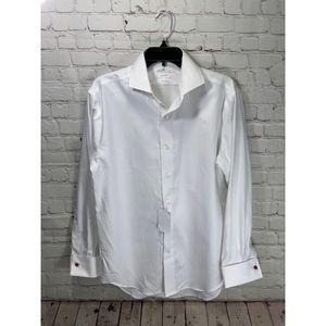 "NWT Lorenzo Uomo ""the perfect white shirt"" small"